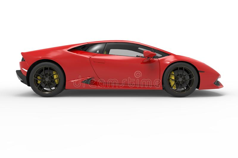 Carro Lamborghini huracan em background02 branco ilustração do vetor