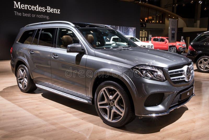 Carro luxuoso de Mercedes Benz GLS SUV imagens de stock royalty free