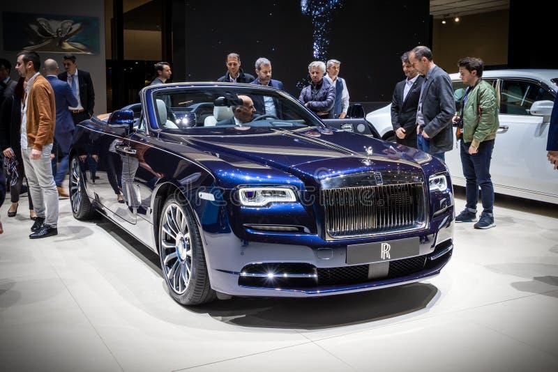 Carro luxuoso de Rolls royce Dawn Convertible foto de stock royalty free