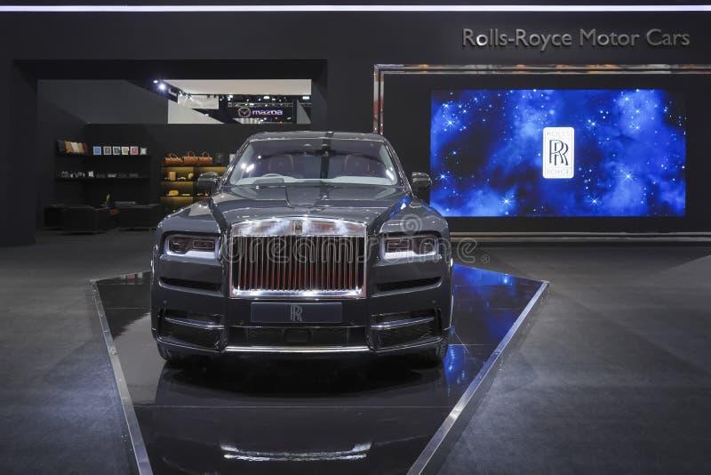 Carro luxuoso de Rolls Royce New Cullinan na exposição automóvel 2019 fotos de stock