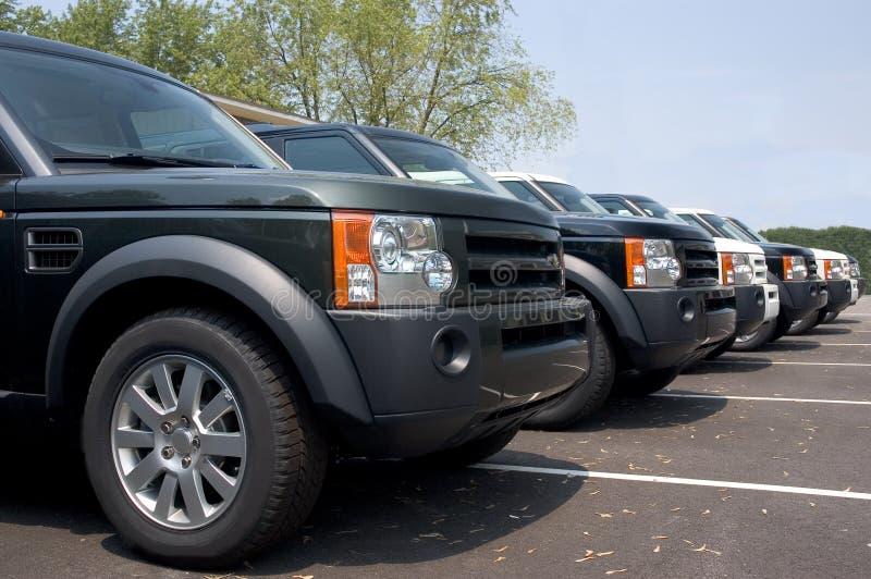 Carro luxuoso de SUV fotos de stock royalty free