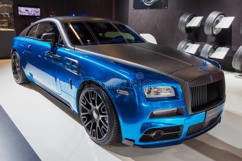 Carro luxuoso feito sob encomenda da aparição de Mansory Rolls royce imagem de stock royalty free