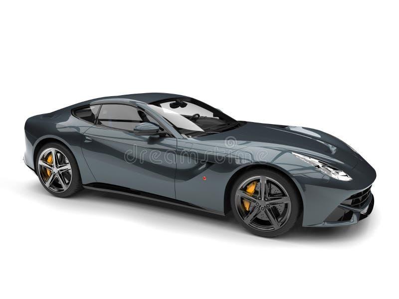 Carro luxuoso moderno metálico do conceito do cinza de ardósia ilustração royalty free