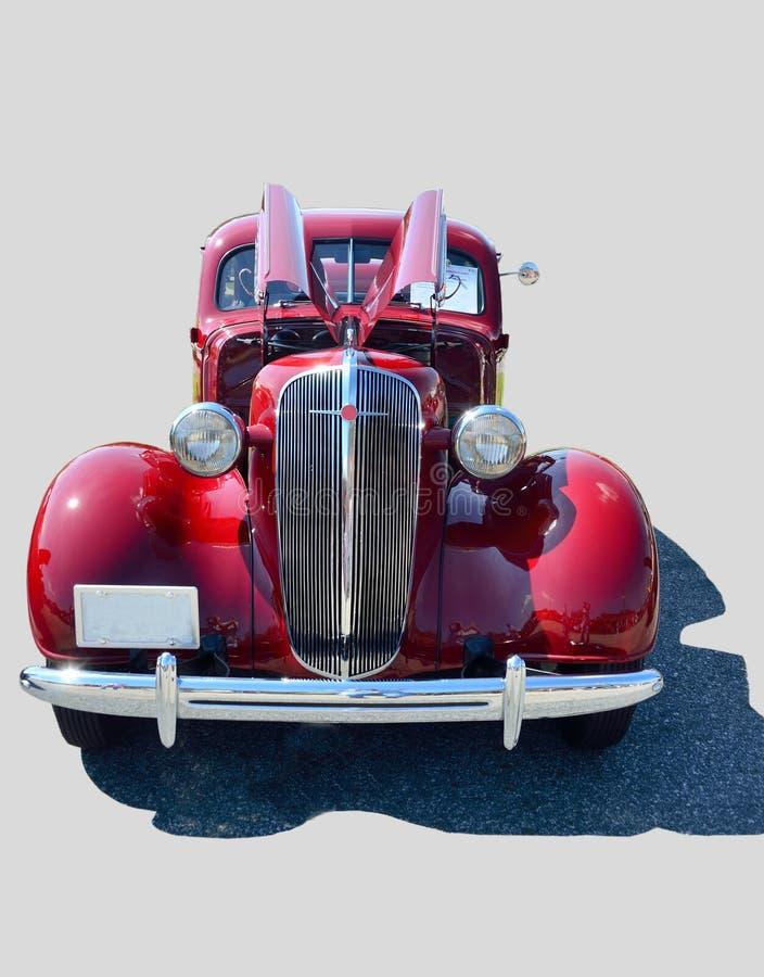 Carro luxuoso vermelho do vintage   imagens de stock royalty free