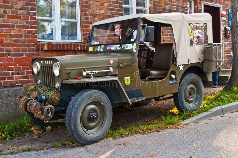 Carro militar clássico de Willys fotografia de stock