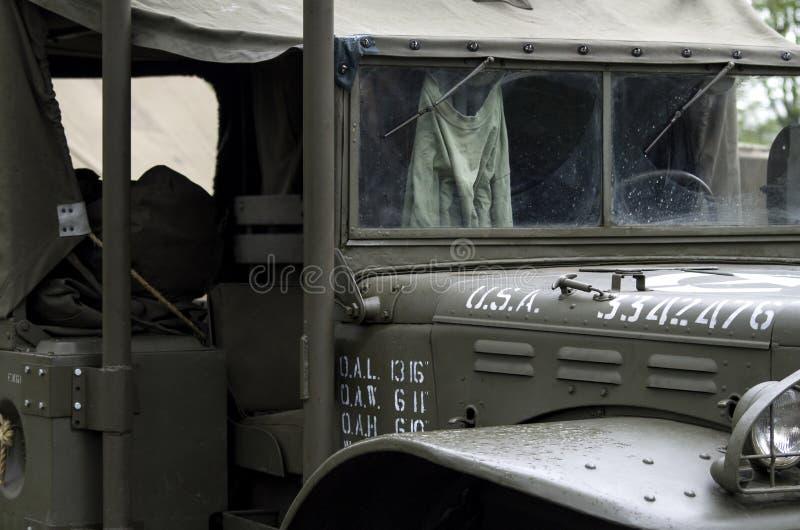 Carro militar do ex?rcito dos EUA hist?rico imagens de stock