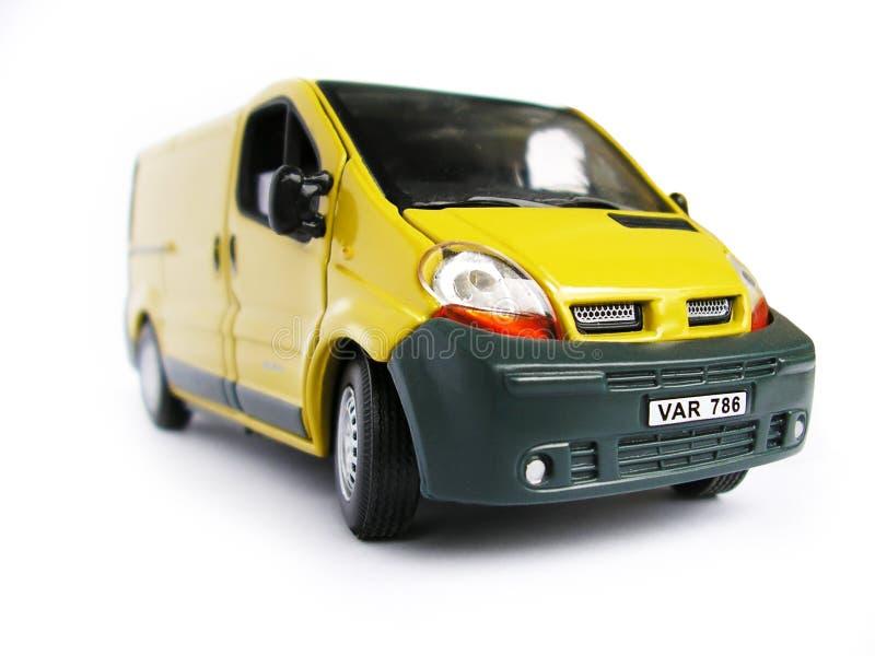 Carro modelo amarelo - Van. Passatempo, coleção fotos de stock