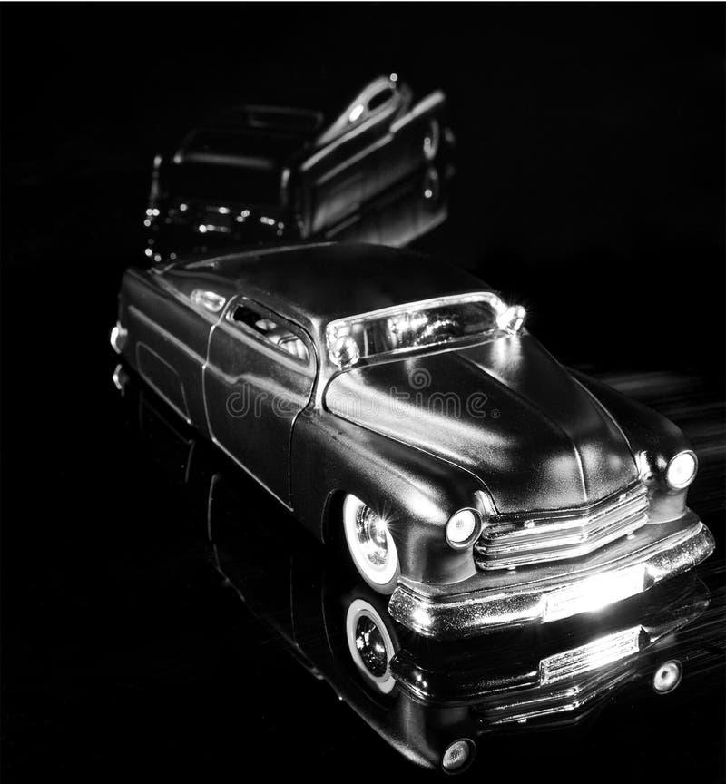 Carro modelo preto superior da costeleta feita sob encomenda imagens de stock