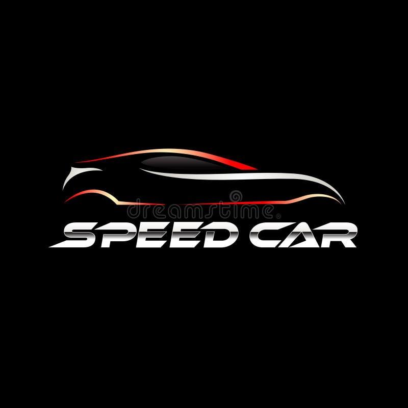 Carro moderno Logo Sign Symbol Icon da tecnologia da velocidade fotos de stock royalty free