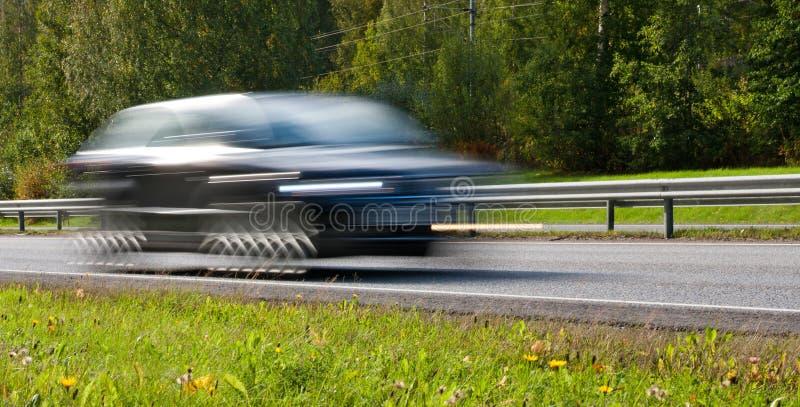 Carro movente rápido fotografia de stock royalty free