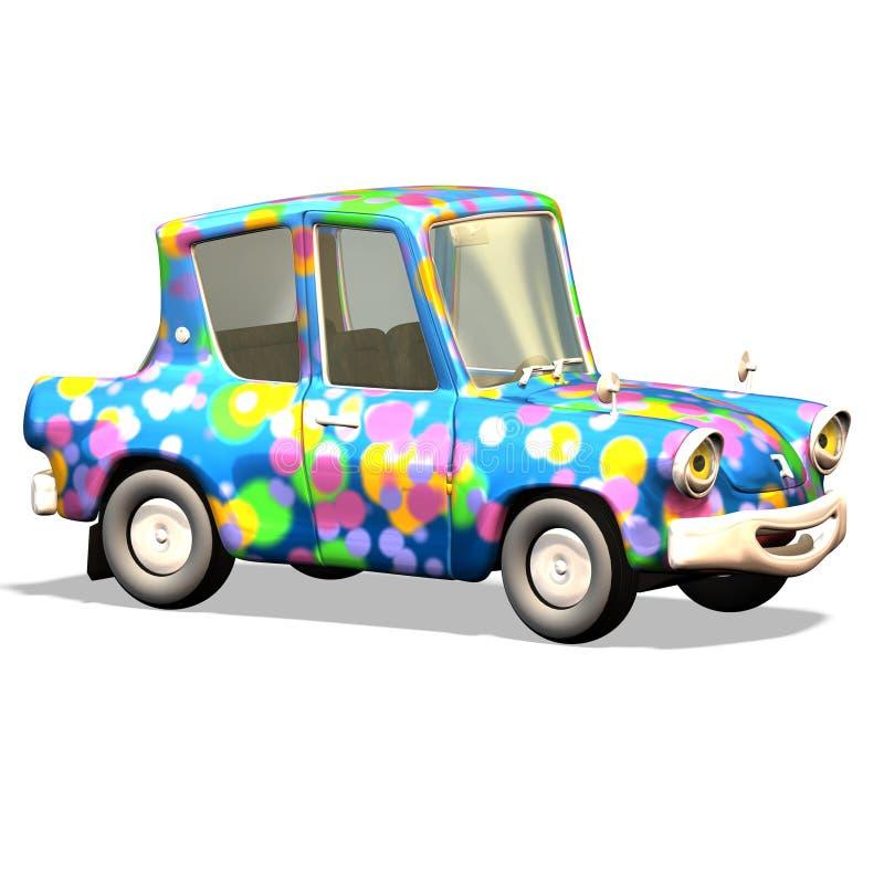 Carro no. 17 dos desenhos animados ilustração stock