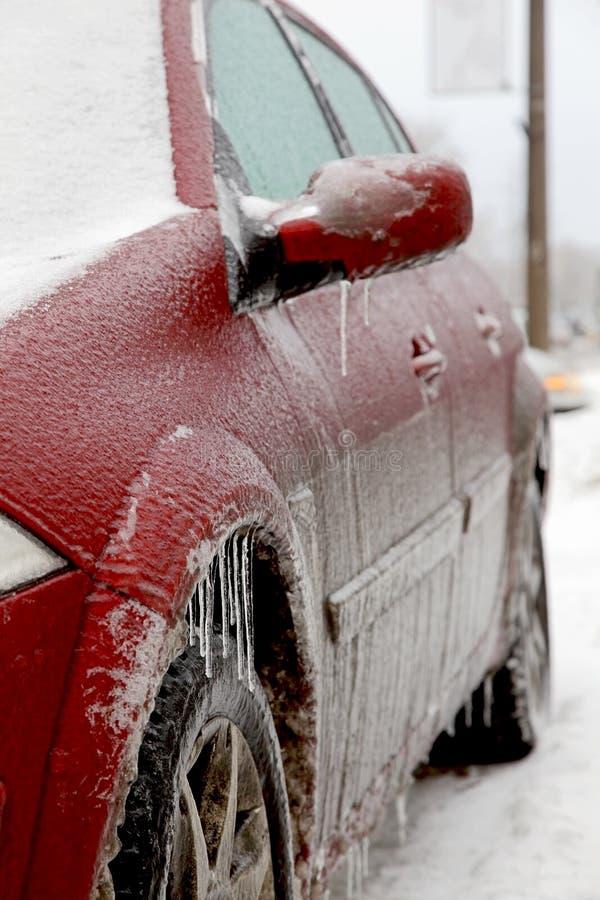 Carro no gelo foto de stock royalty free