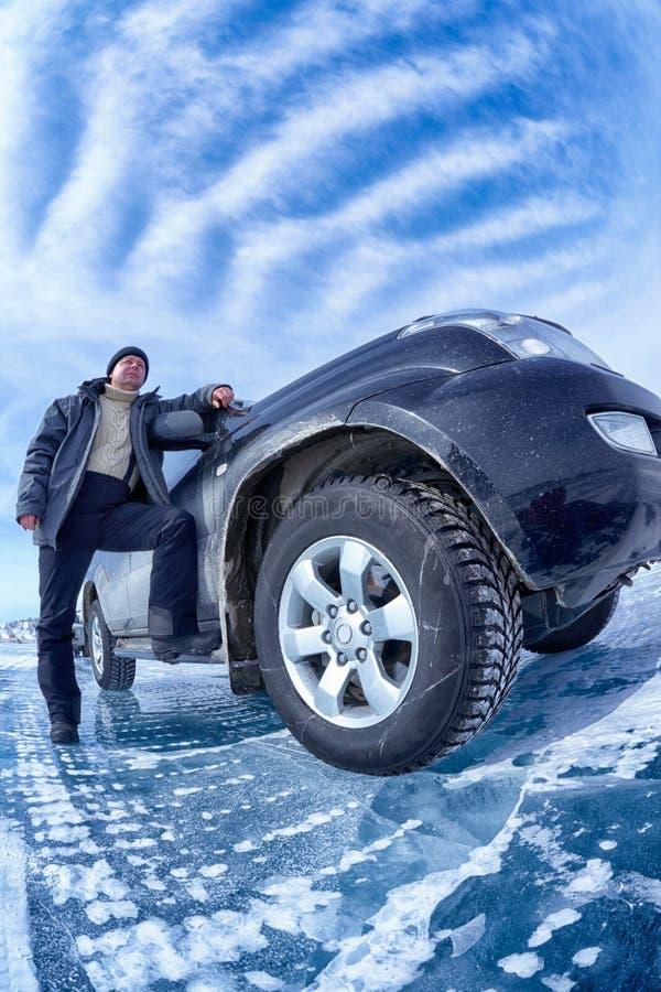 Carro no gelo fotos de stock