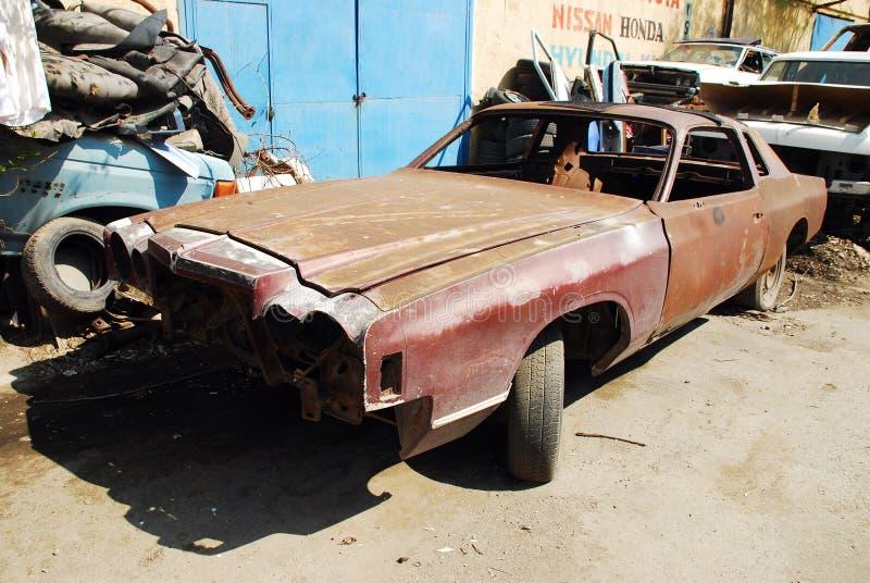 Carro oxidado velho fotos de stock