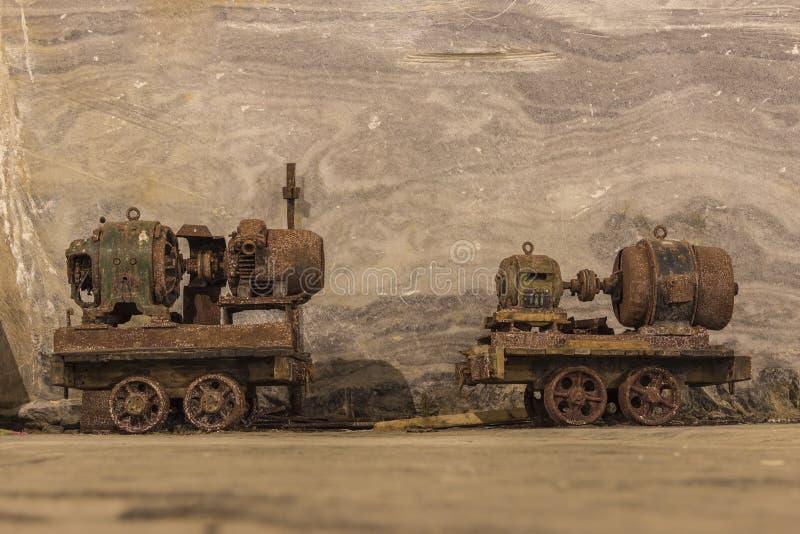 Carro oxidado viejo de la mina fotografía de archivo libre de regalías