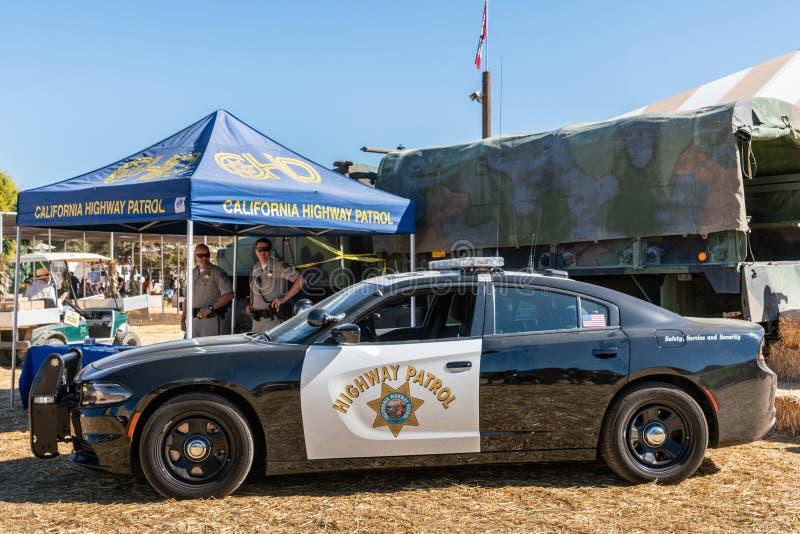 Carro-patrulha da estrada de Califórnia em Moorpark justo imagens de stock