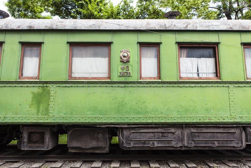 Carro personal del tren de Joseph Stalin en Gori, Georgia imagenes de archivo