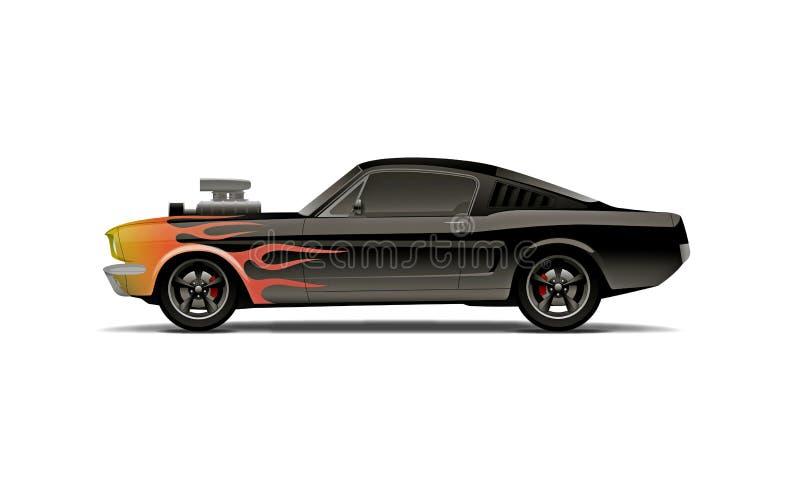 Carro personalizado do músculo ilustração royalty free