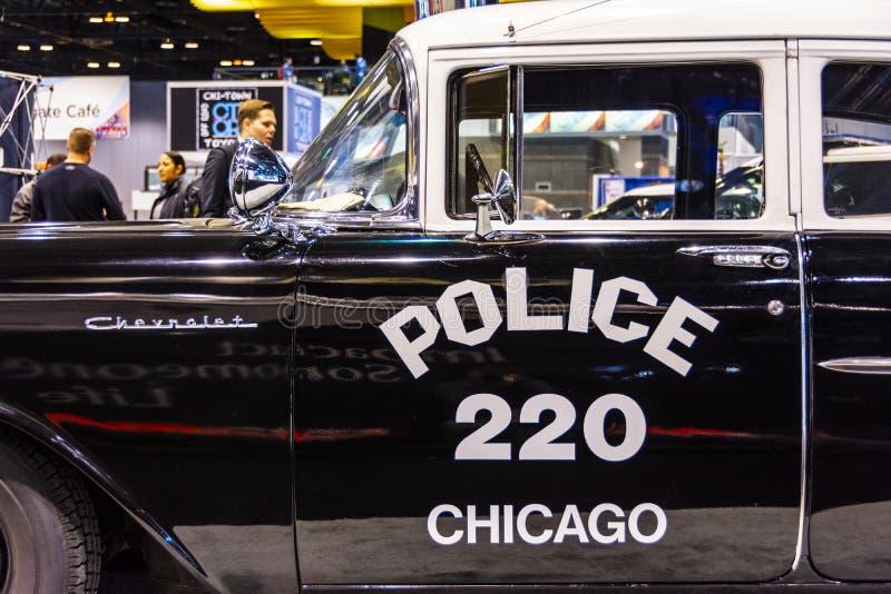 Carro policial 1957 de Chicago fotografia de stock