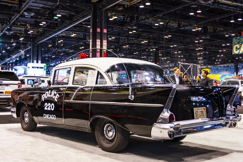 Carro policial 1957 de Chicago foto de stock royalty free