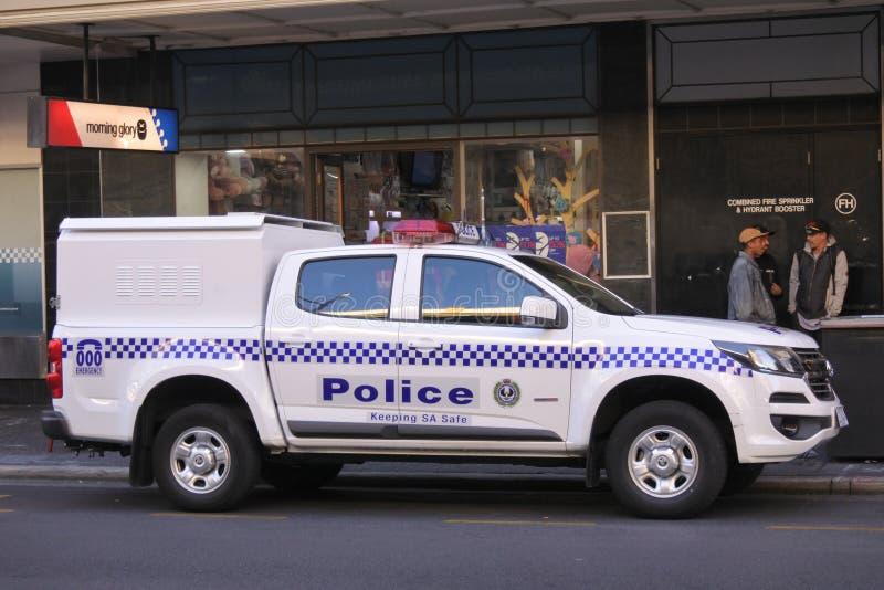 Carro policial do Sul da Austrália em Adelaide South Australia fotografia de stock