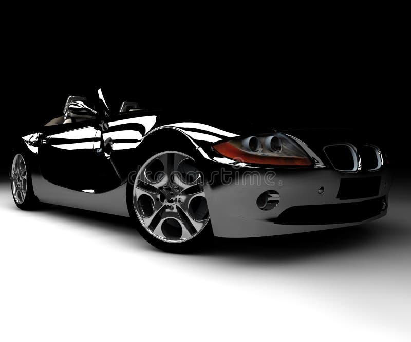 Carro preto ilustração stock