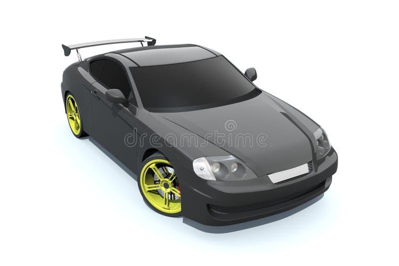 Carro preto ilustração royalty free