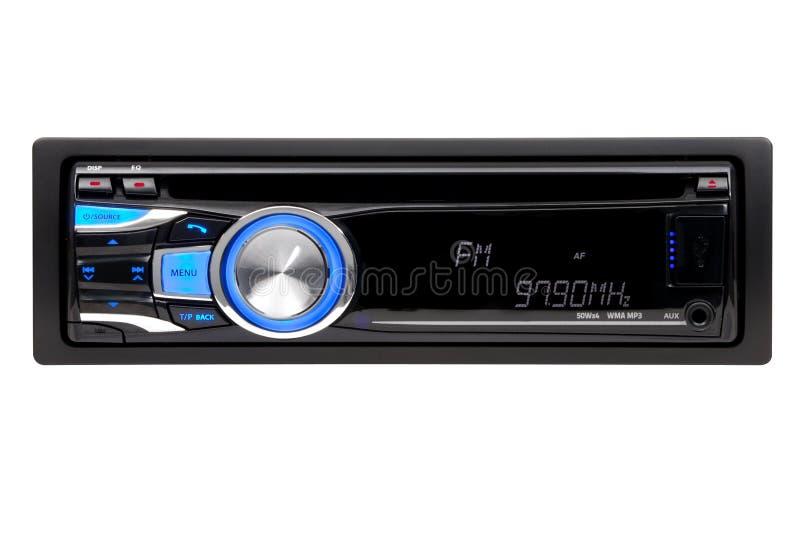 Carro preto CD-MP3-WMA-Player audio fotos de stock
