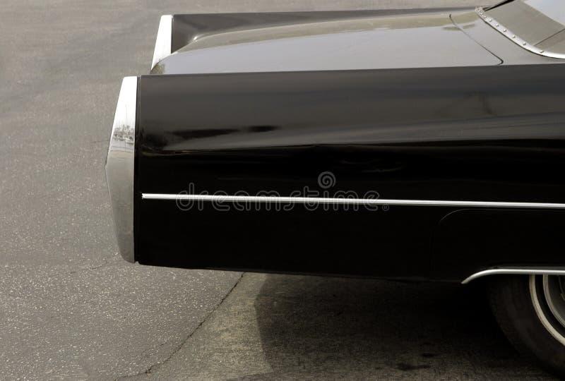Carro preto com cromo imagem de stock royalty free