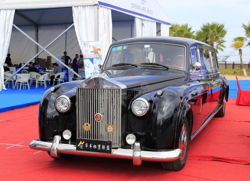 Carro preto de rolls royce imagem de stock royalty free