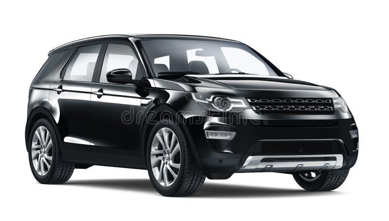 Carro preto de SUV ilustração stock