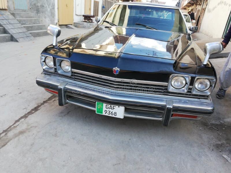 Carro preto do vintage imagem de stock