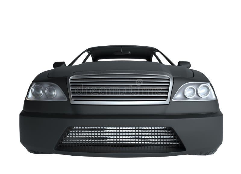 Carro preto genérico de Brandless ilustração 3D ilustração do vetor