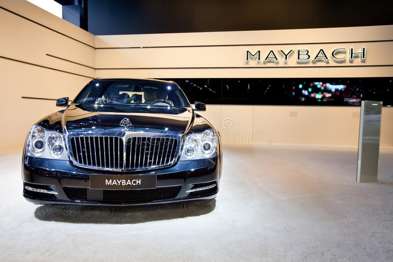 Carro preto Maybach imagem de stock