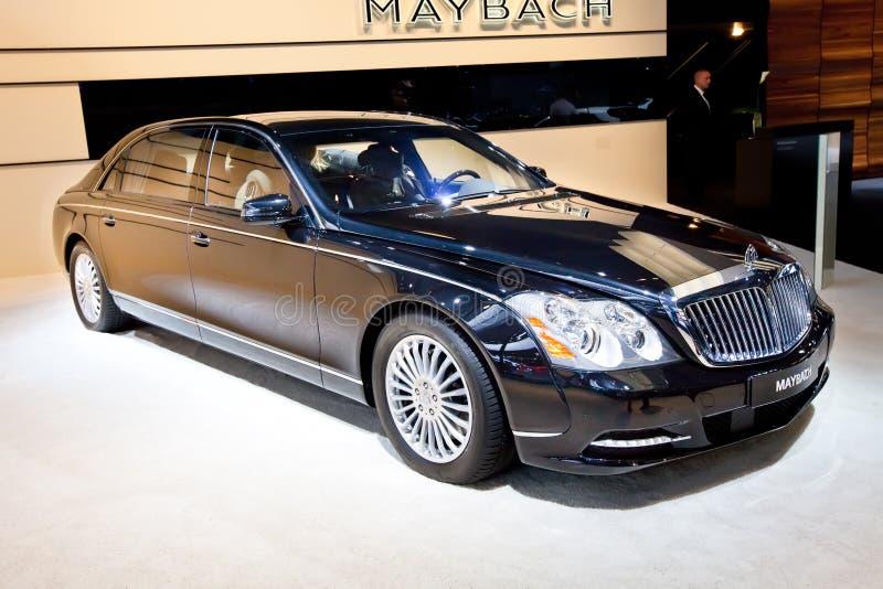 Carro preto Maybach imagem de stock royalty free