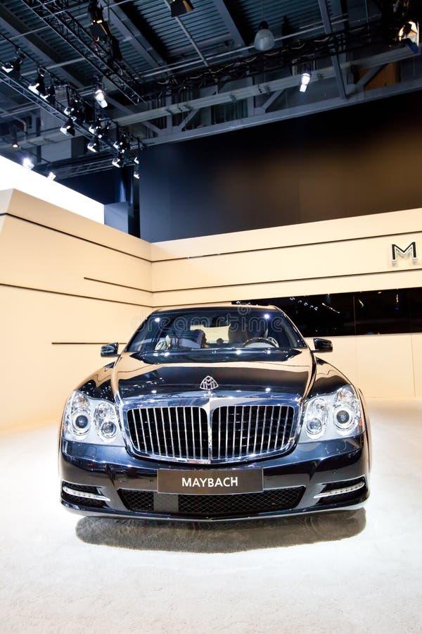 Carro preto Maybach imagens de stock royalty free