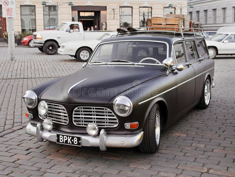 Carro preto velho foto de stock