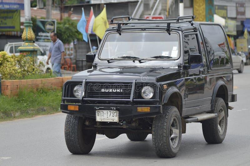Carro privado da estrada de Suzuki Off fotografia de stock royalty free