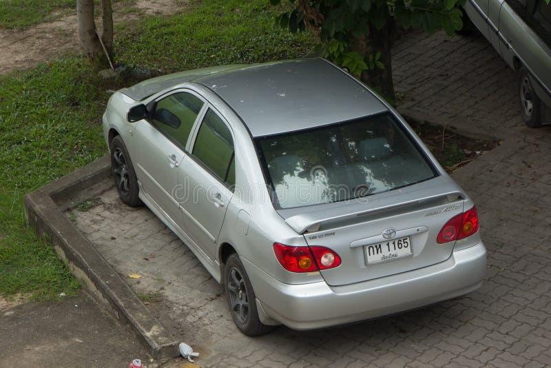 Carro privado Toyota Corolla Altis fotografia de stock