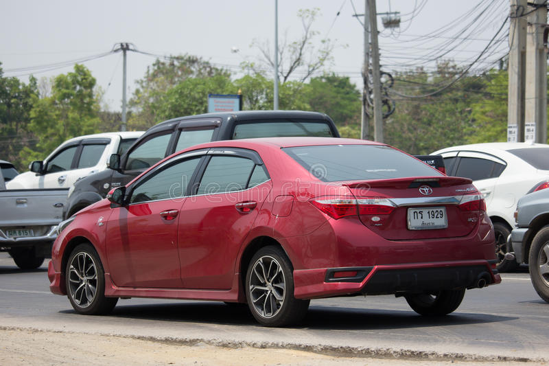 Carro privado, Toyota Corolla Altis fotografia de stock royalty free