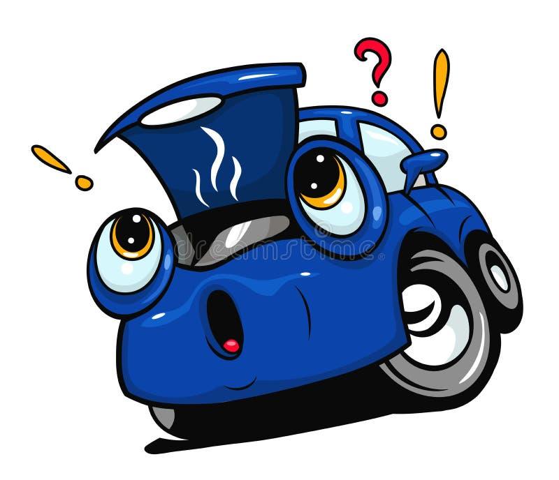 Carro quebrado dos desenhos animados ilustração royalty free