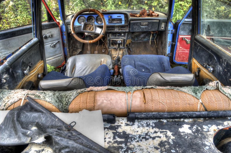 carro quebrado velho para HDR foto de stock royalty free
