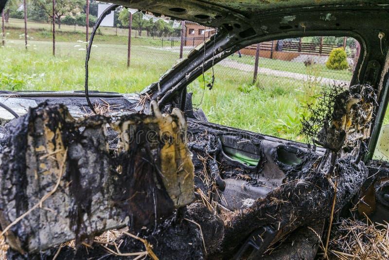 Carro queimado imagem de stock royalty free