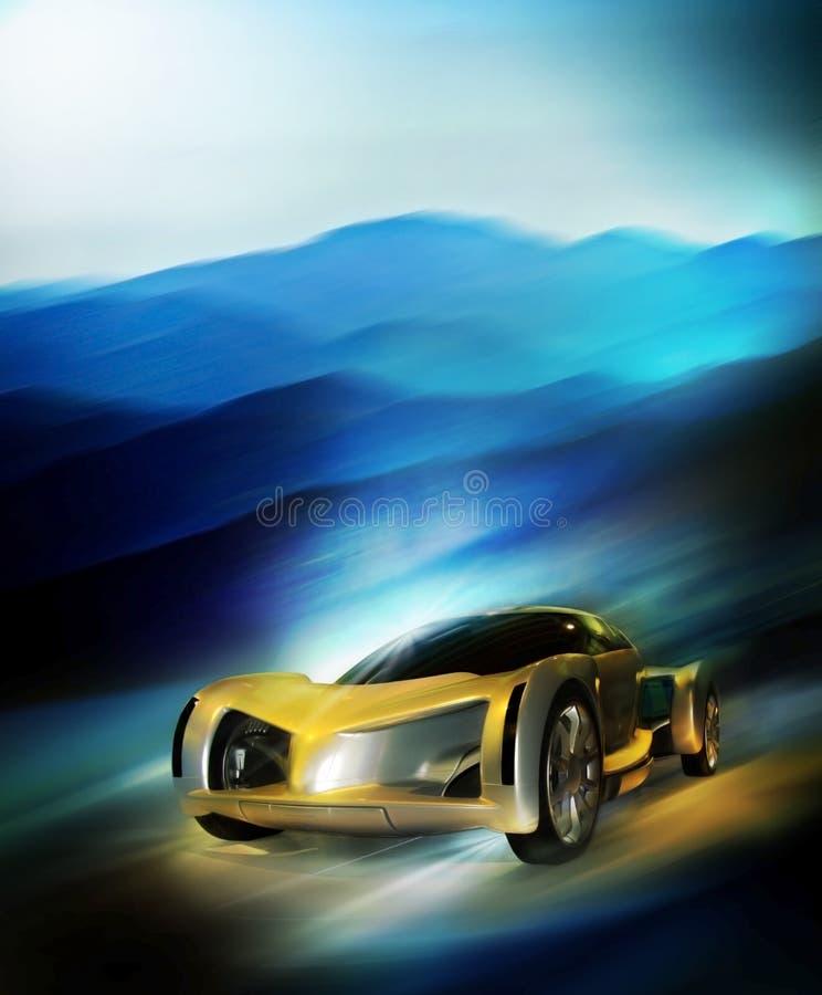 Carro rápido ilustração do vetor