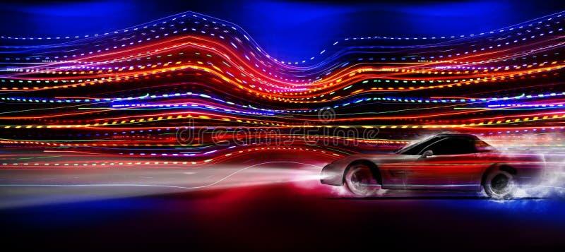 Carro rápido ilustração stock