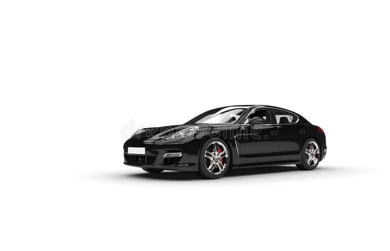 Carro rápido preto ilustração stock