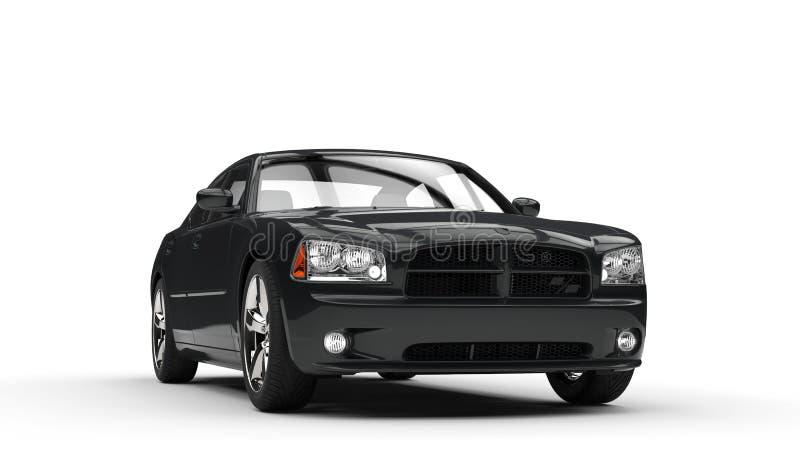 Carro rápido preto imagens de stock royalty free