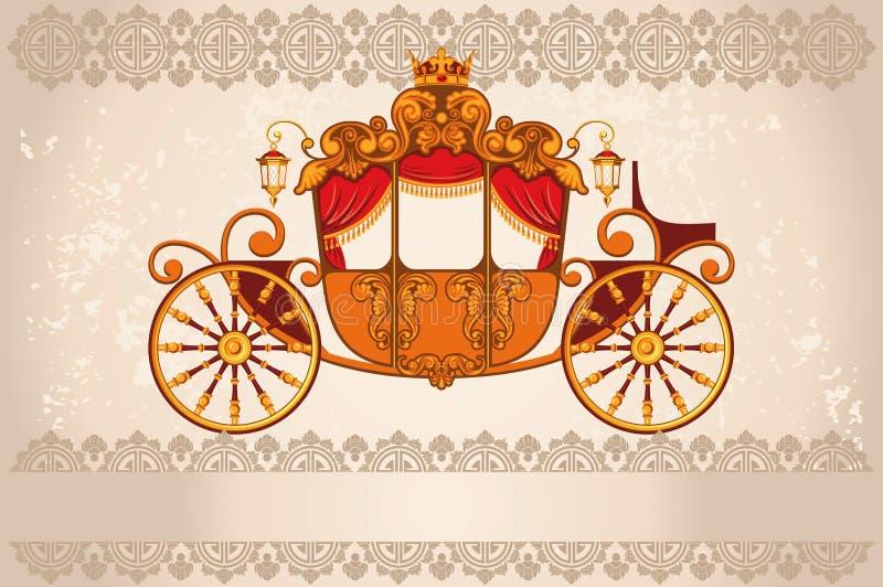 Carro real ilustração stock