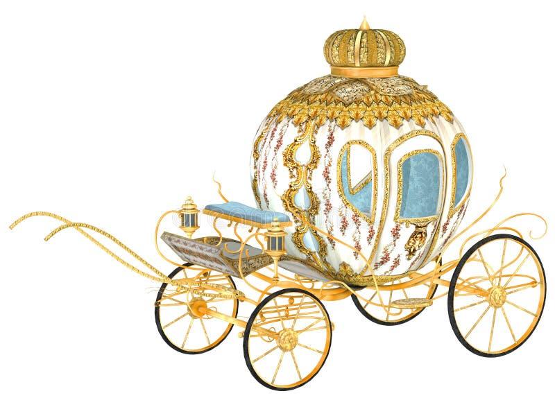 Carro real do conto de fadas ilustração royalty free