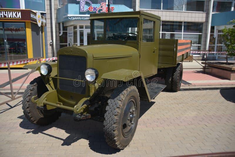 Carro retro da segunda guerra mundial na URSS imagens de stock royalty free